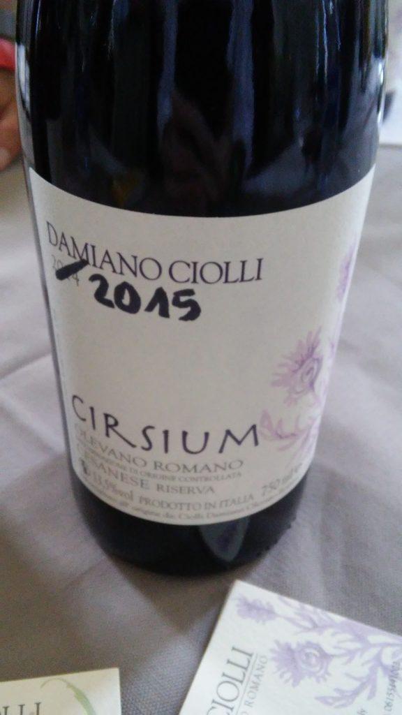 D. O. C. Cesanese di Olevano Romano Riserva - Cirsium 2015