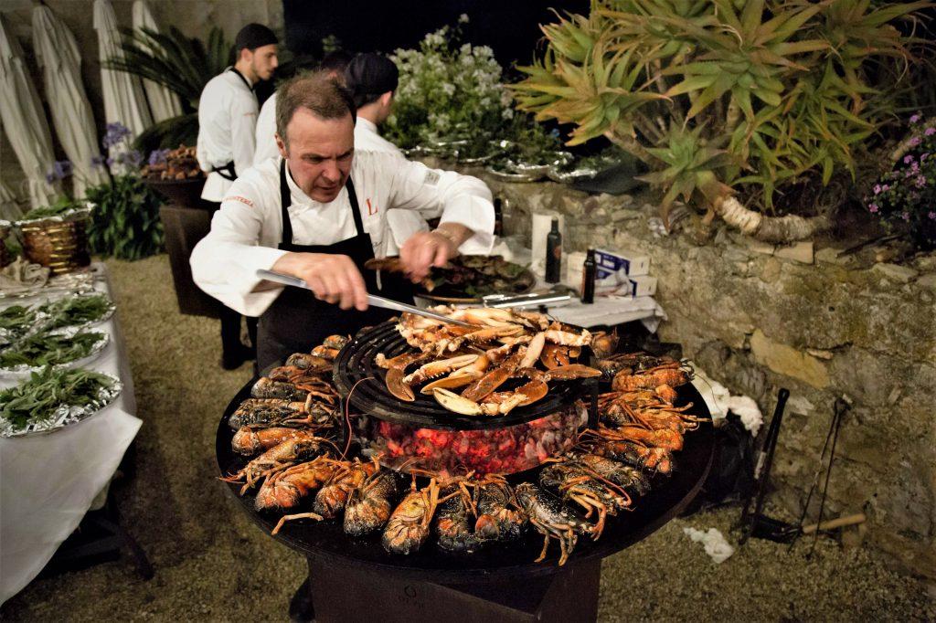 Lo Chef Mimmo Soranno e la sontuosa grigliata di pesce