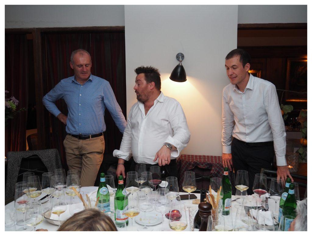 (da sinistra) Willi Stürz, Luca Gardini e Wolfgang Klotz