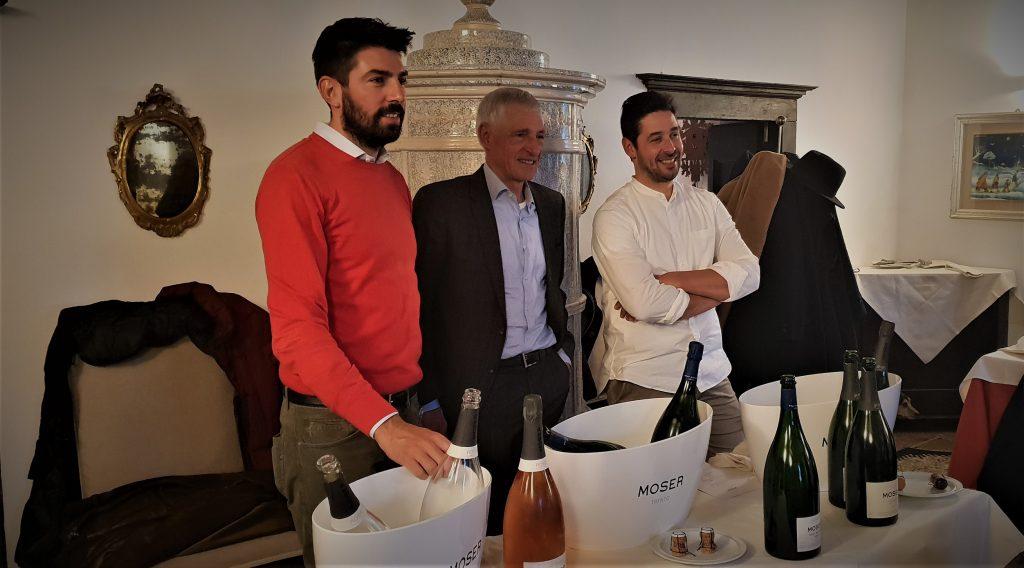 Da sx Carlo, Francesco, Matteo Moser