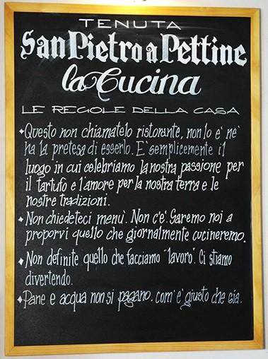 San Pietro Pettine menù